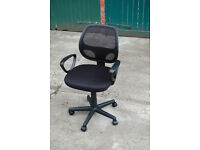 Mesh Fabric Adjustable Swivel Computer Desk Office Chair Padded Soft Seat