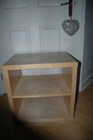 IKEA Beech effect square storage unit