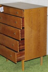 Drawers Chest of 5 Wooden Draws, good usable condition - Ilkeston