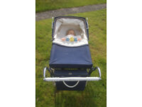 Dark Blue 1960s vintage, Silver Cross Coach Built Dolls Pram £55 ono