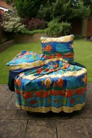 Child's Curtains, Floor Cushion and Bean Bag