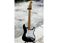 Fender Stratocaster MIJ E Series 1984-87 in Black with Maple Neck