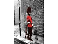 Banksy Queen's Guard Poster Street Art A2 Size Paper Laminated Encapsulated Print Graffiti