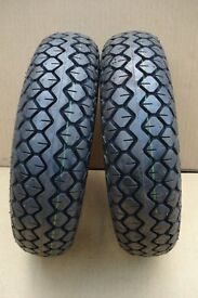 2 new 400 x 5 heavy duty mobility scooter tyres (black)
