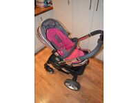 Icandy Peach Pushchair in Berry Bon Bon - with or without carrycot