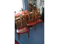 4 Vintage dining chairs very good condition