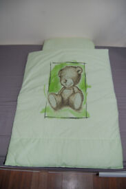 New baby duvet and pillow