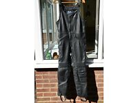 LEATHER SALOPETTES MOTORCYCLE TROUSERS