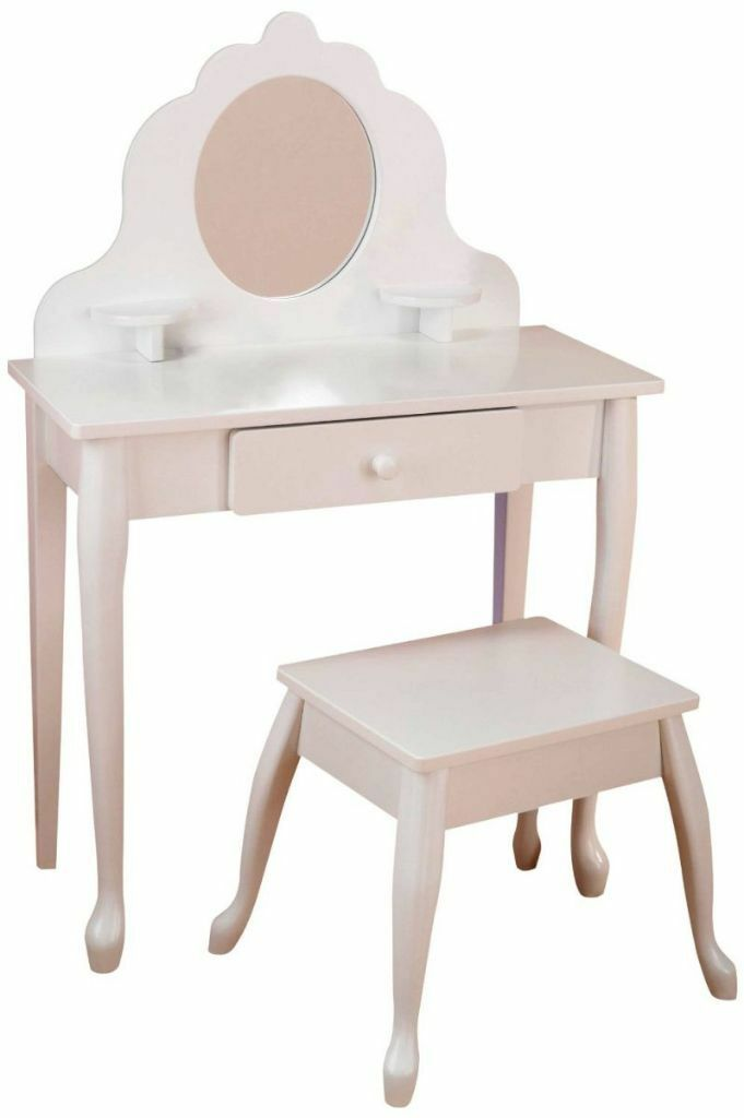 Kids white dressing table and stool 30 this weekend for Gumtree beauty table