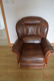 3-1-1 Genuine Brown Leather Suite