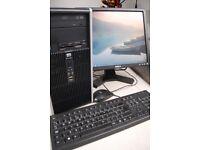 HP Compaq EC5900 MC Windows 7 Pro 64 bit E8400 @3.0GHz 4GB Memory 500Gb HD plus peripherals & cables
