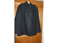 Jasper Conran extra large grey wool jacket double breasted