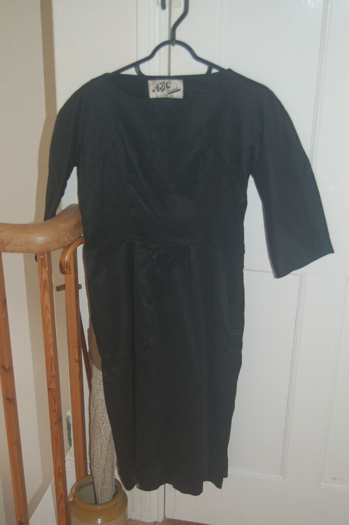 Vintage small little black dress ABC make with lining