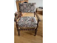 Vintage Chair. Arts and Craft Style