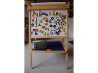 John Crane Double-sided Easel with magnetic letters