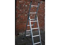 AS NEW SET OF ABRU 3 WAY COMBINATION LADDERS