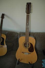 Vintage V800-12 12 String Acoustic Guitar