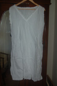 Vintage knee length cotton white nightdress