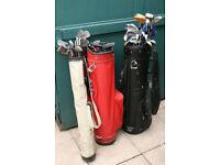 30 Golf clubs, + 3 bags