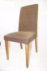 BoConcept Walnut Dining Chairs x 6   Brown Fabric Covers   Very Good Condition   Bo Concept