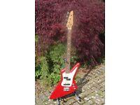EXPLORER RED BASS GUITAR