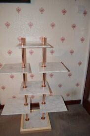 Marble and Copper Display Stand