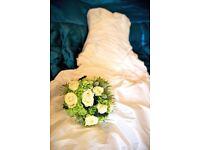 Designer wedding dress by Ellis Bridal size 10