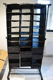 Collapsible storage in black, for Shoes, boots & Scarves