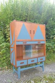 Retro G plan style painted Cocktail Cabinet