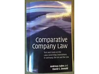Textbook Comparative Company Law A. Cahn and D.Donald 2010