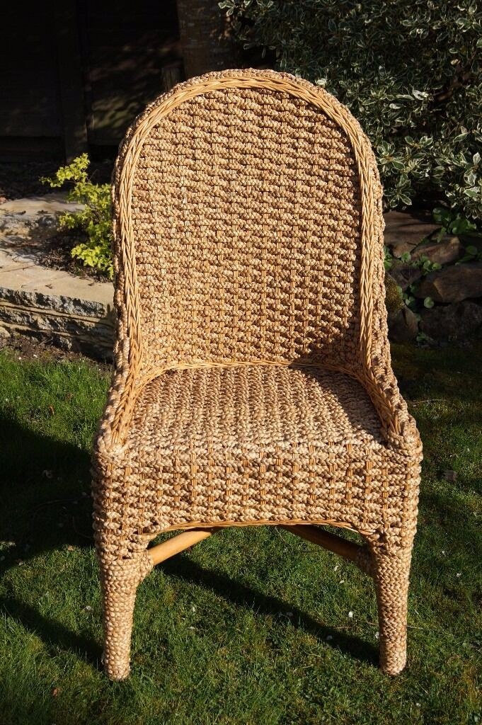 Chunky weave water hyacinth chairexcellent conditionin Crawley, West SussexGumtree - Chunky weave water hyacinth chair excellent condition Tulip back Height 1m x Width 53cm x Depth 56cm Lacquer finish