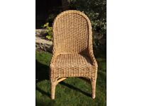 Chunky weave water hyacinth chair - excellent condition