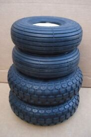 4 Puncture proof tyres - Freerider City Ranger 6 & 8 mobility scooter - Free delivery up to 20 miles
