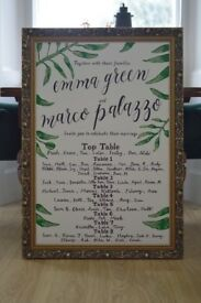 WEDDING BLACKBOARD/WEDDING CHALKBOARD/WEDDING MIRROR