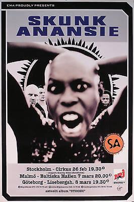 Skunk Anansie 1996 Stoosh Original Swedish Concert Poster