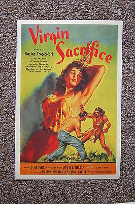 Sacrifice Movie Poster (Virgin Sacrifice Lobby Card Movie Poster David DaLie )