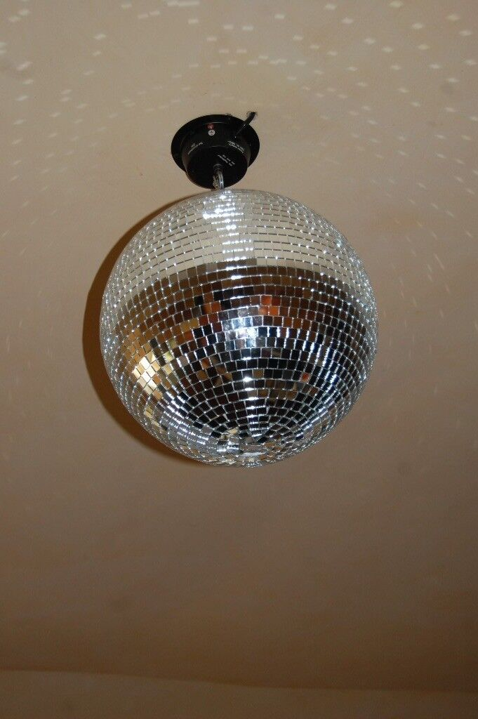 Large Silver Glitter Ball, 14 inch Diameter, with