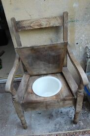 Wood Commode Chair