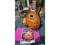 Les Paul Standard guitar pure 59 vibe with beautiful hand relic burst Rewired CTS pots Epiphone pups