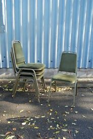 vintage chairs 46 cafe stacking chairs for sale
