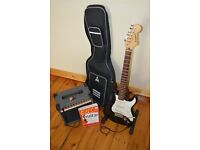 Electric Guitar Beginner's Kit: Westfield Strat with amp, stand, lead, case + guide