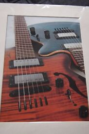 """Professional Photograph of Two Guitars 14"""" x 11"""""""