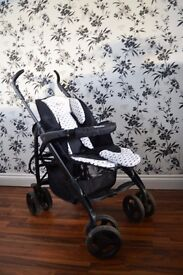 Silver Cross 3D Pram System in Black with Changing Bag