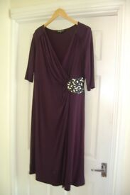 Gorgeous Scarlett & Jo side beaded wrap dress, midnight blue, size 18, midi length, worn once
