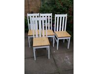 Ludlow in Oak & White - Oak & White 4 Dining Chairs Chair Set Wood Furniture