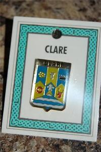 County-CLARE-Irish-PIN-LAPEL-Coat-of-Arms-Crest-Clip-Badge-Brooch-Ireland
