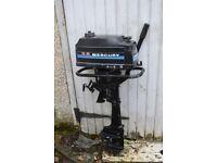 Mercury 3.5 HP Standard Shaft Outboard Motor Spares or Repair