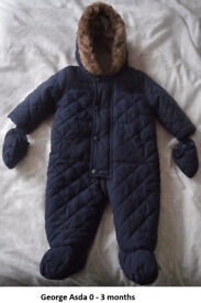 All in one snowsuit/pramsuit