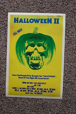 Halloween Part 2 Lobby Card Movie Poster Jamie Lee Curtis John Carpenters Yellow