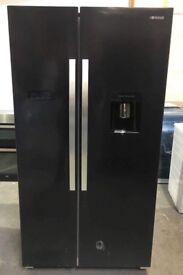Black American style fridge freezer